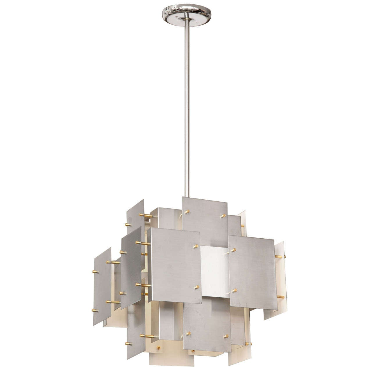 1960s Modernist Architectural Ceiling Fixture by Sonneman 1