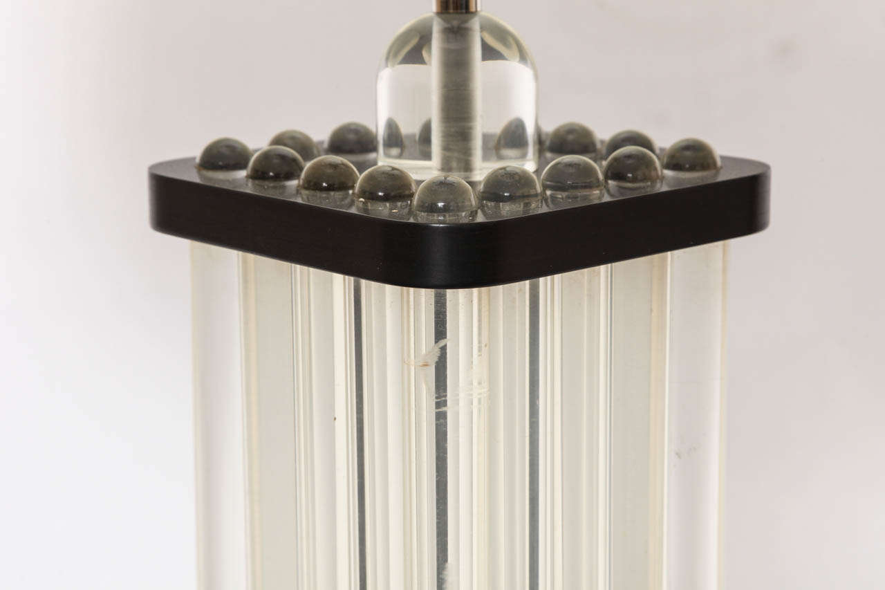 Art Deco Table Lamp American Modernist Lucite and Bakelite, 1930s For Sale