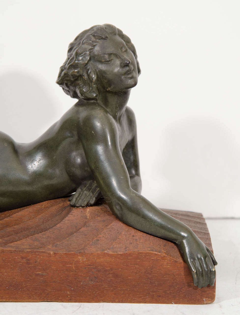 "20th Century An Art Deco Pair of Bronze Sculptures of ""Pan and Lover"" For Sale"