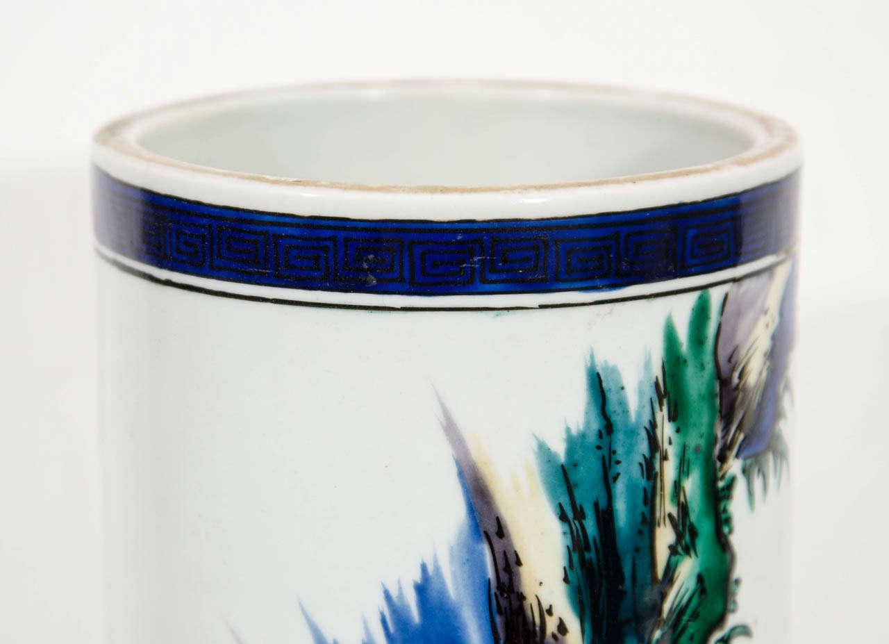20th Century Mid-Century Decorative Ceramic Japanese Vase For Sale