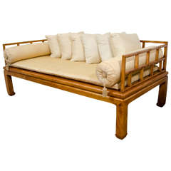 Mid Century Daybed in the Style of Baker Furniture Far East Collection