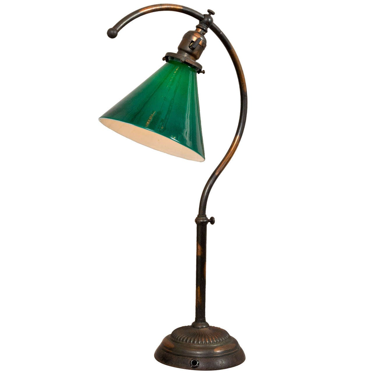 Unusual Desk Lamp Known As The Question Mark Lamp At 1stdibs