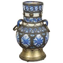 Antique Moroccan Ceramic Moorish Vase