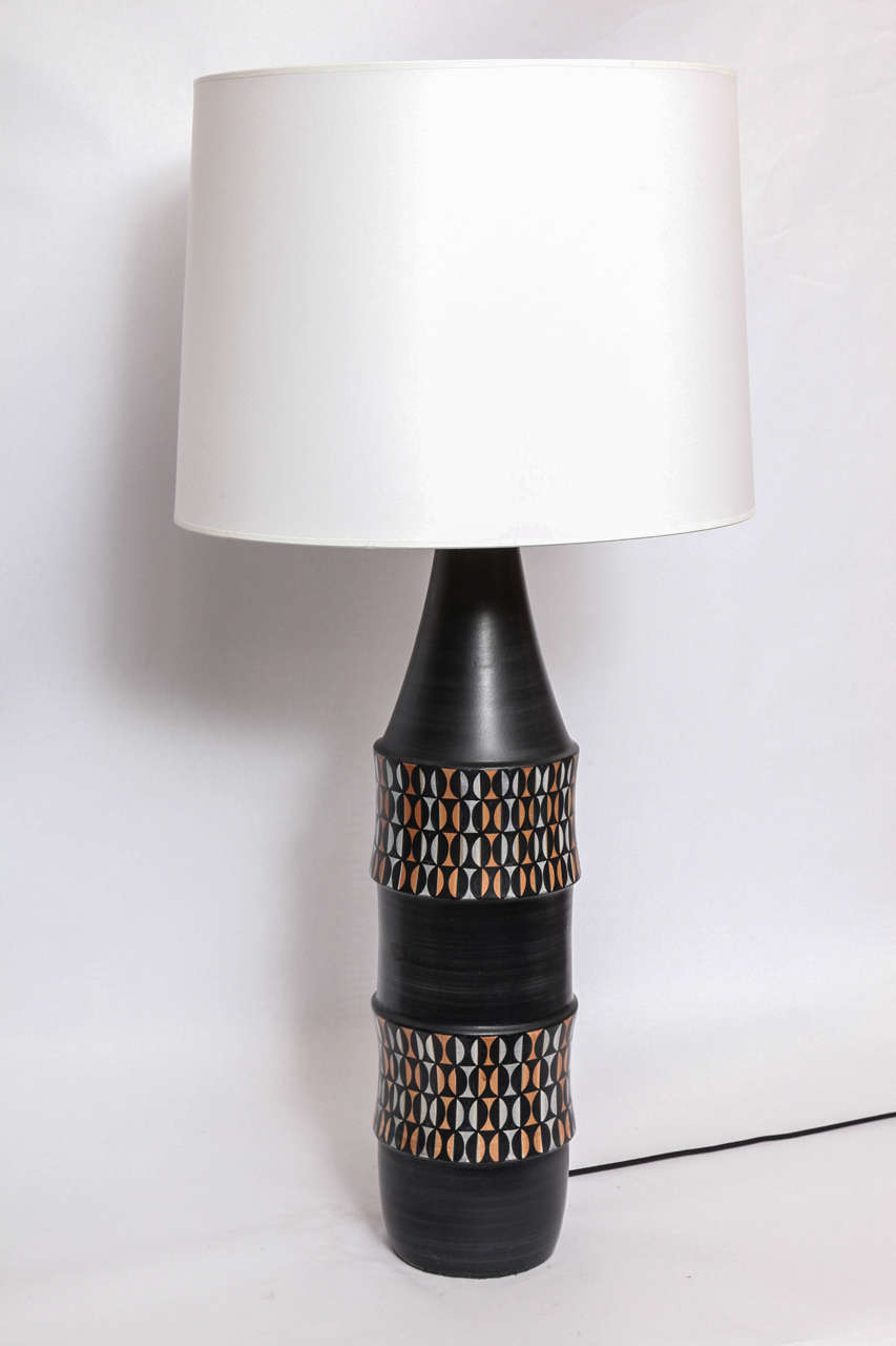 Mid-Century Modern Table Lamp Mid Century Modern Ceramic Italy 1950's For Sale