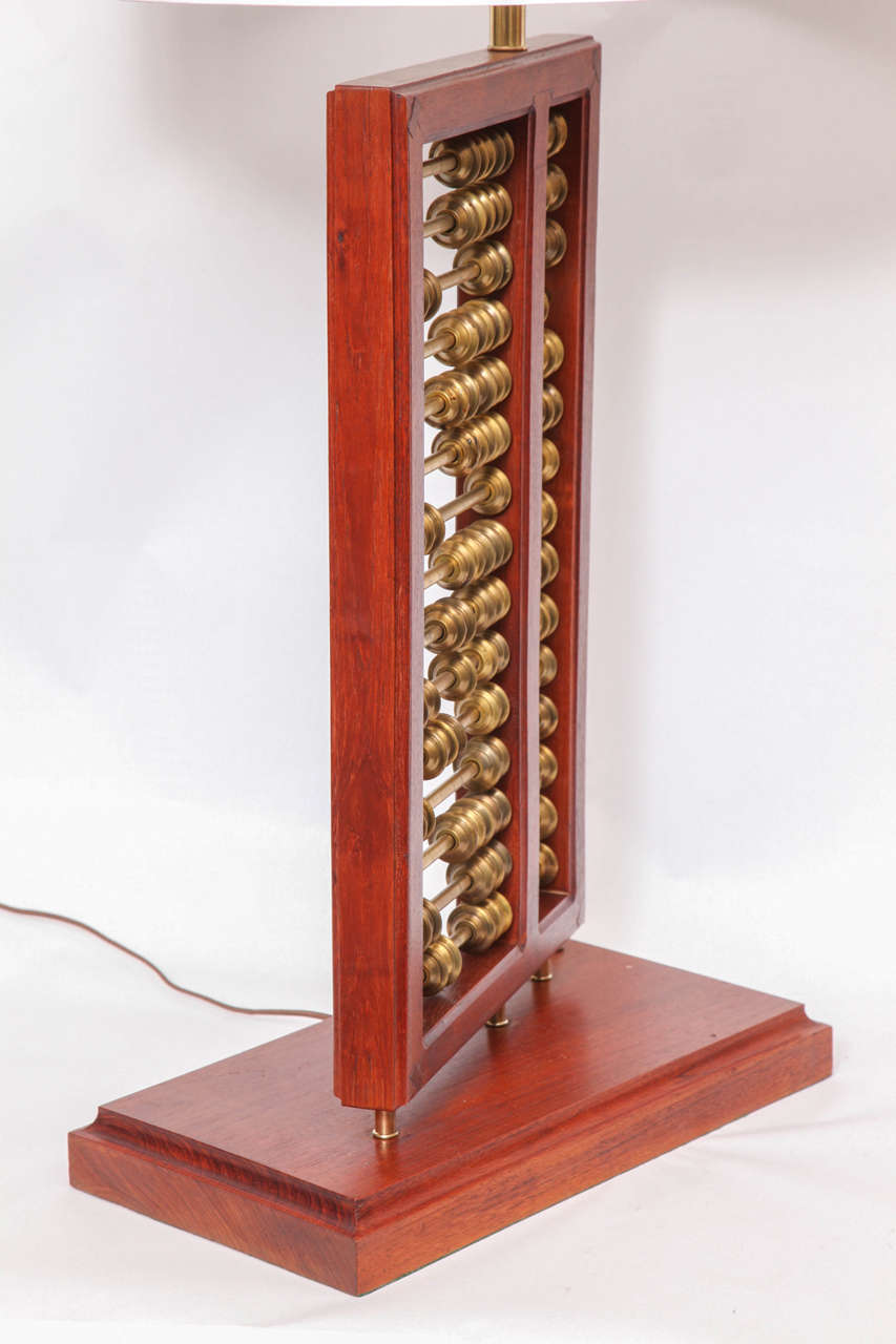 1940s Art Moderne Abacus Table Lamp At 1stdibs