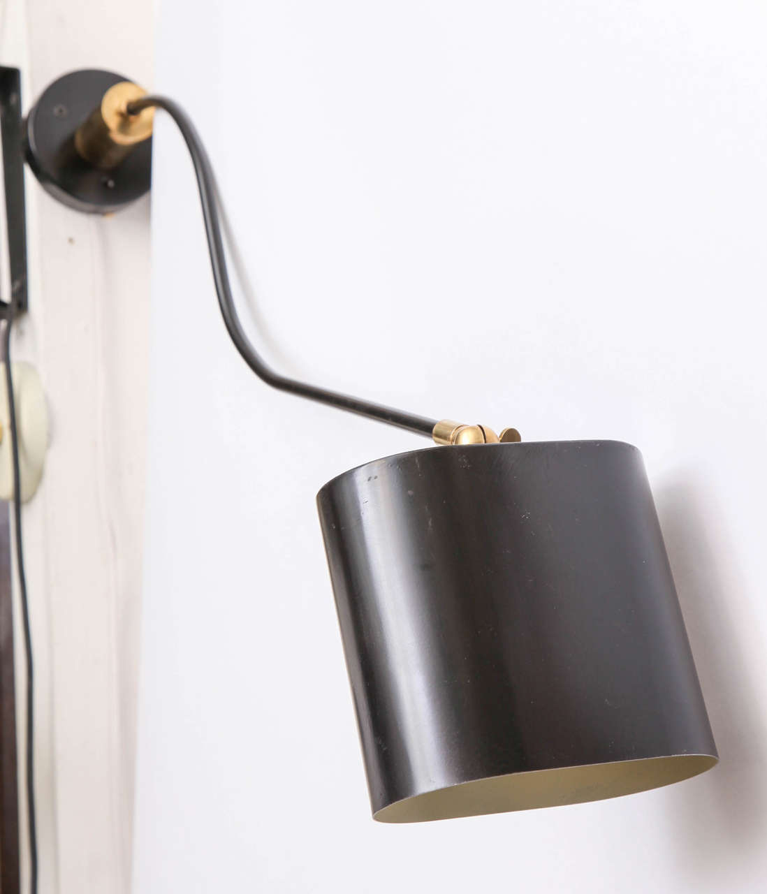 Mid-Century Modern 1950s, French, Articulated Wall Sconce For Sale
