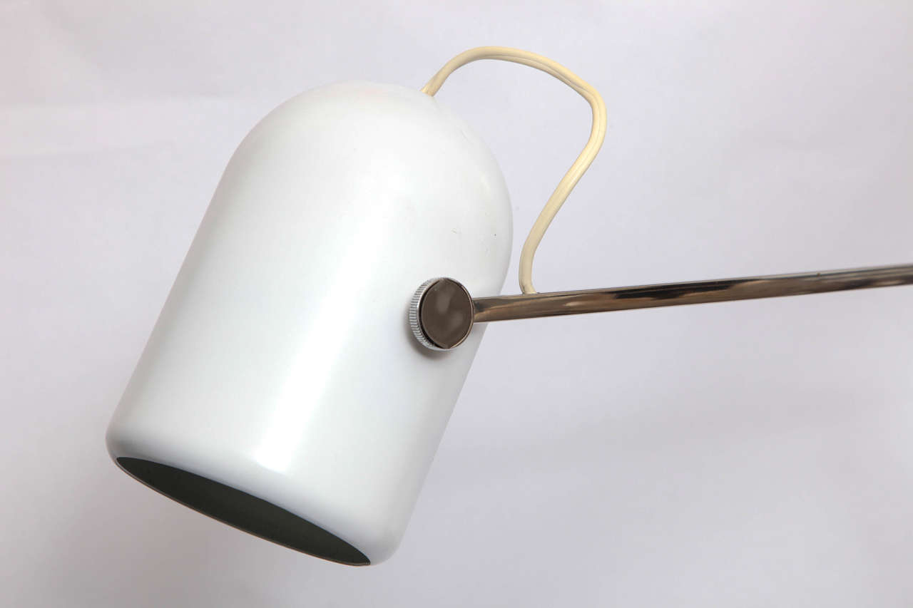 Reggiani Articulated Table Lamp Mid Century Modern Italy 1960's In Good Condition For Sale In New York, NY