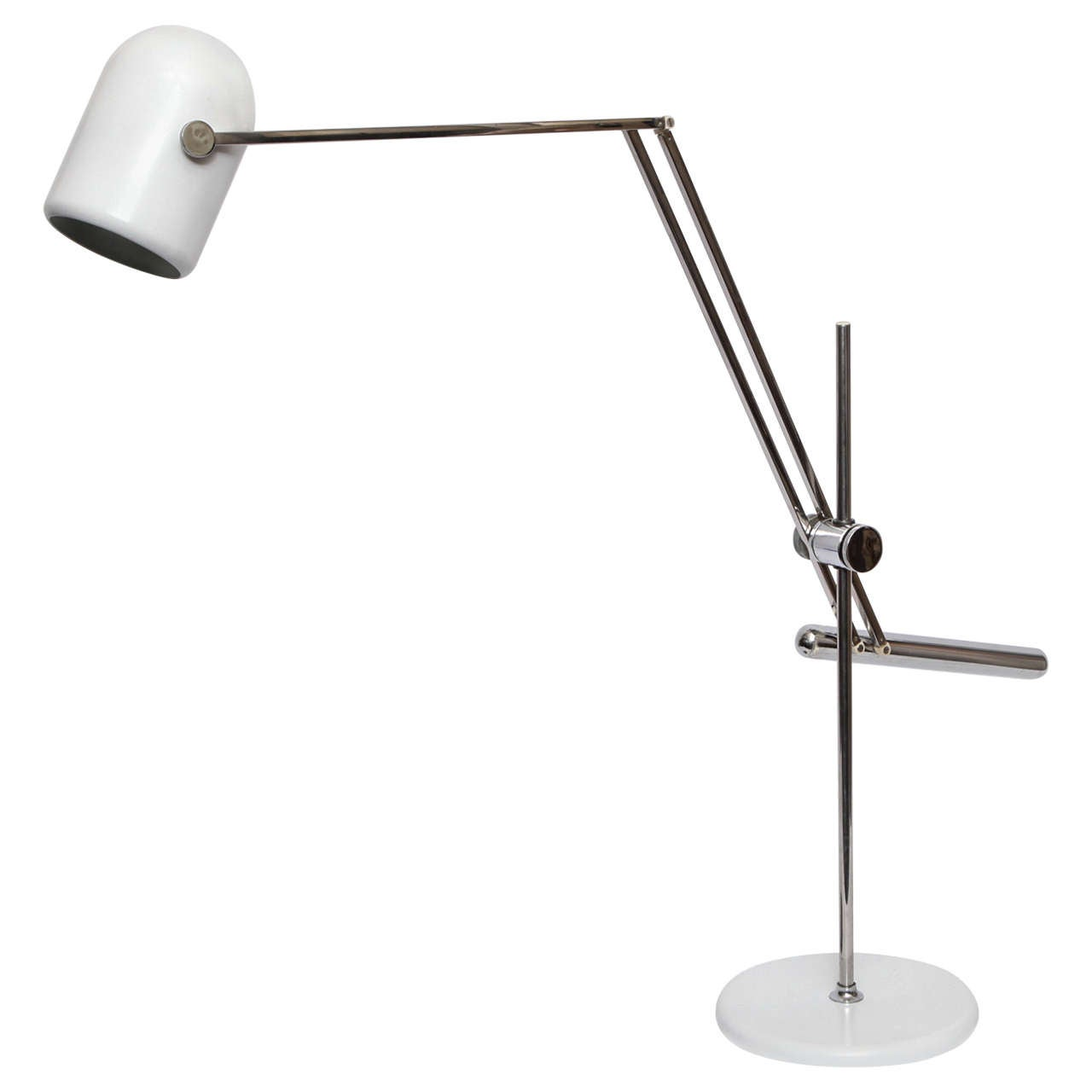 1960s Italian Articulated Table Lamp by Reggiani