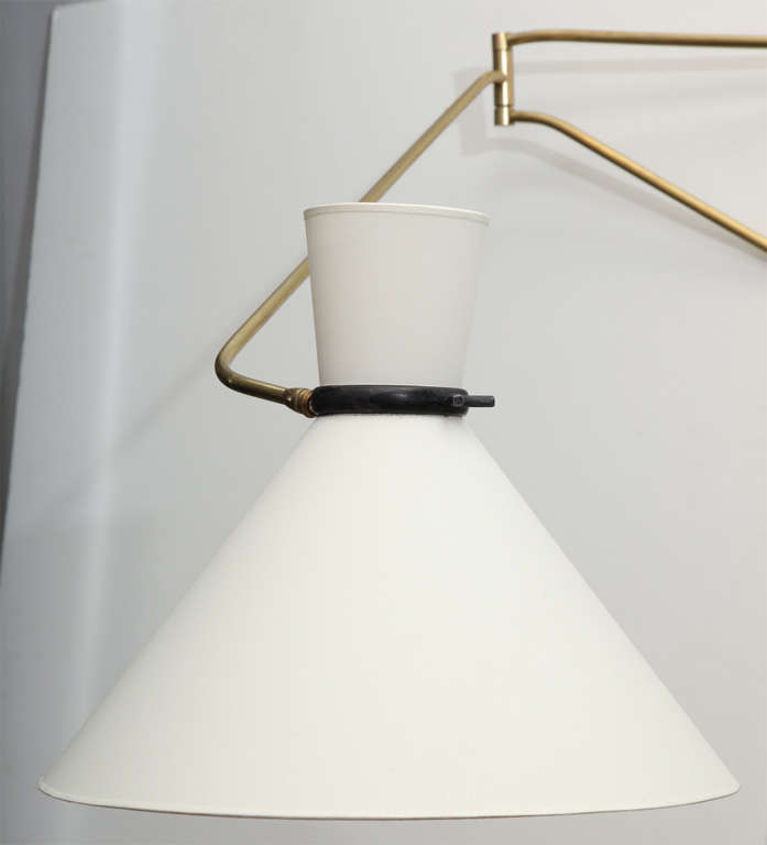 stilnovo wall mounted swing arm lamp at 1stdibs. Black Bedroom Furniture Sets. Home Design Ideas
