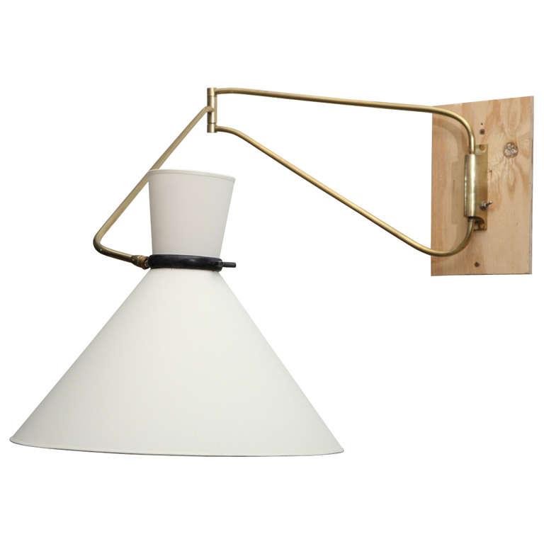 stilnovo wall mounted swing arm lamp at 1stdibs. Black Bedroom Furniture Sets. Home Design Ideas