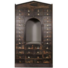 Neoclassical Display Storage Cabinet