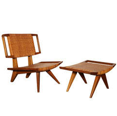 Rare Lounge Chair and Ottoman by Paul Laszlo