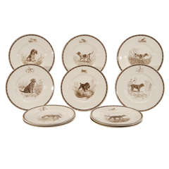 Set of 12 Wedgwood American Sporting Dog Plates- M.Kirmse