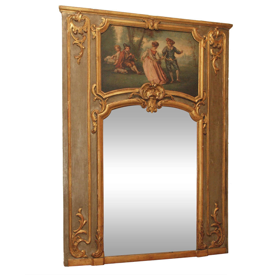 French 19th c trumeau mirror at 1stdibs for French mirror