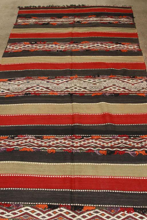 Mid-20th Century Vintage Moroccan Tribal Kilim Rug For Sale