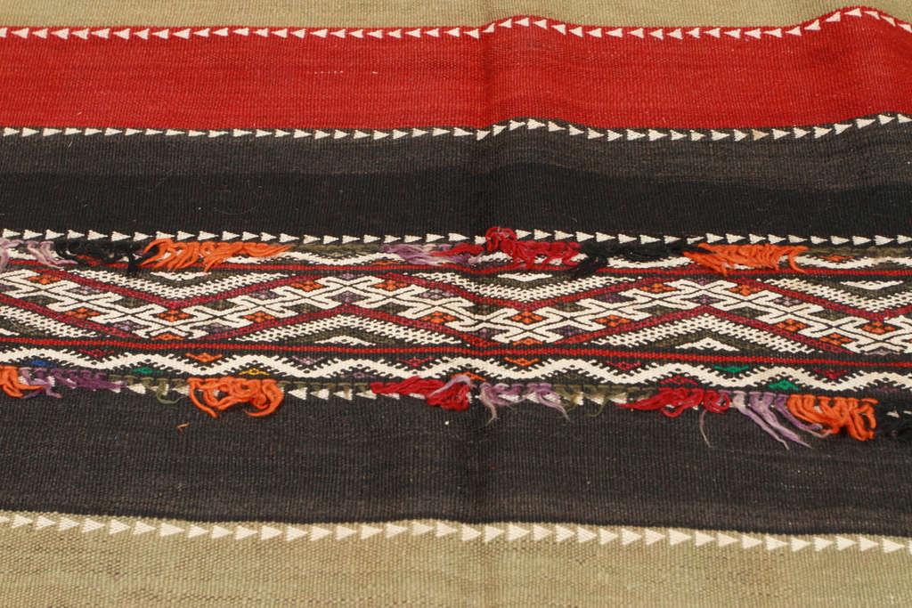 Vintage Moroccan Tribal Kilim Rug For Sale 2