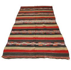 Vintage Moroccan Tribal Kilim Rug