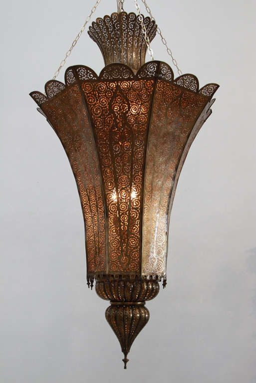 Oversized Moroccan Moorish Br Chandelier