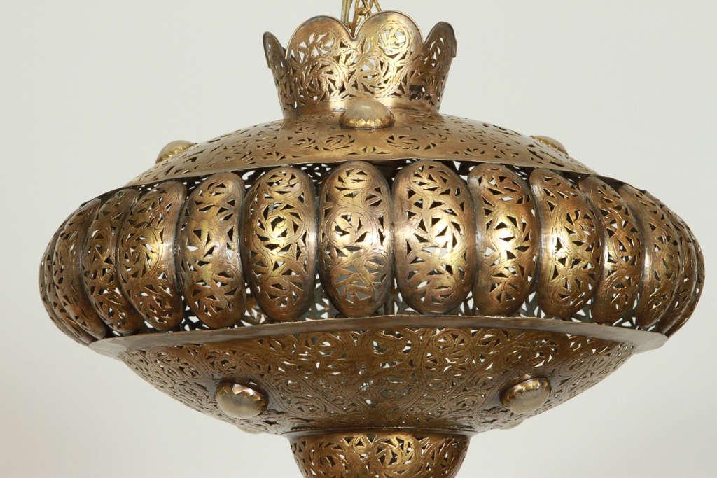 Moorish Moroccan Brass Pendants in Alberto Pinto Style / Pair