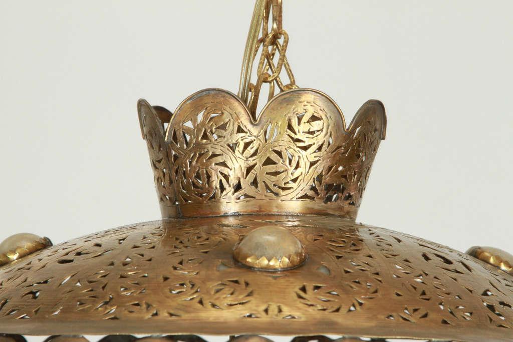 Moroccan Brass Pendants in Alberto Pinto Style / Pair 1