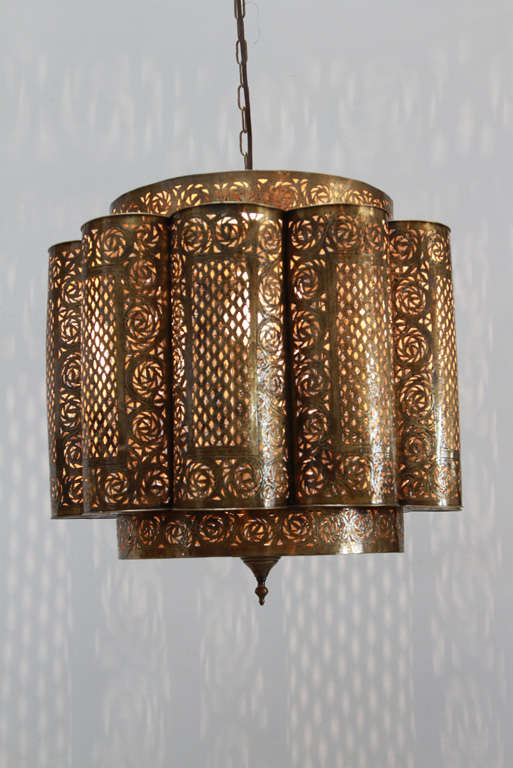 Large pierced brass moroccan chandelier in alberto pinto style at large pierced brass moroccan chandeliers in the style of alberto pinto moorish design this moroccan aloadofball Image collections