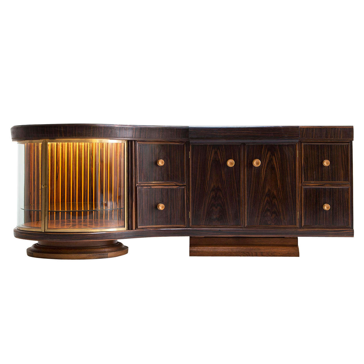 Illuminated art deco dry bar in rosewood for sale at 1stdibs for Home dry bar furniture