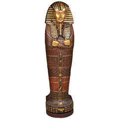 Egyptian Mummy Sarcophagus Style CD Cabinet