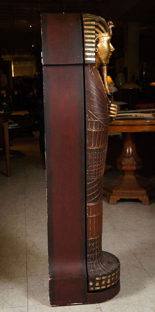Egyptian Mummy Sarcophagus Style Cd Cabinet For Sale At