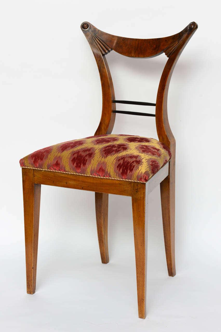 Austrian Set of Six Biedermeier Dining Chairs, Josef Danhauser, Vienna For Sale