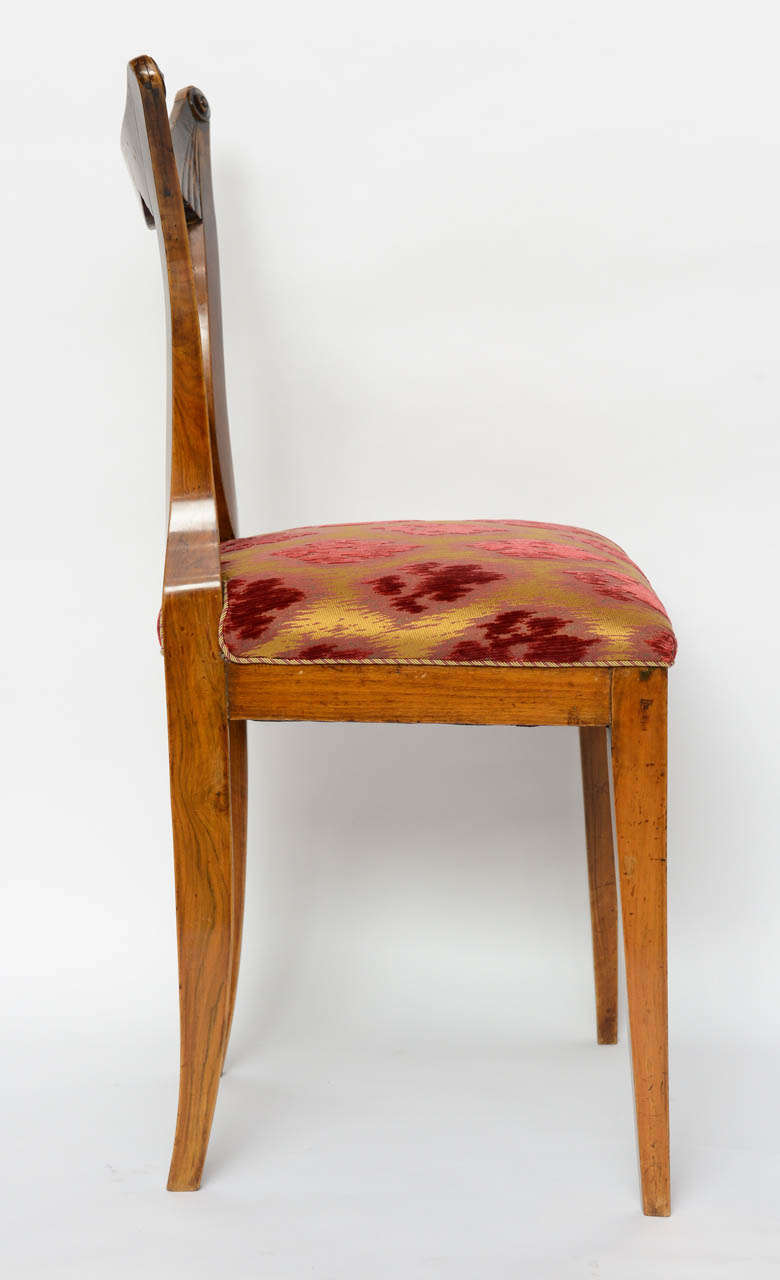 19th Century Set of Six Biedermeier Dining Chairs, Josef Danhauser, Vienna For Sale