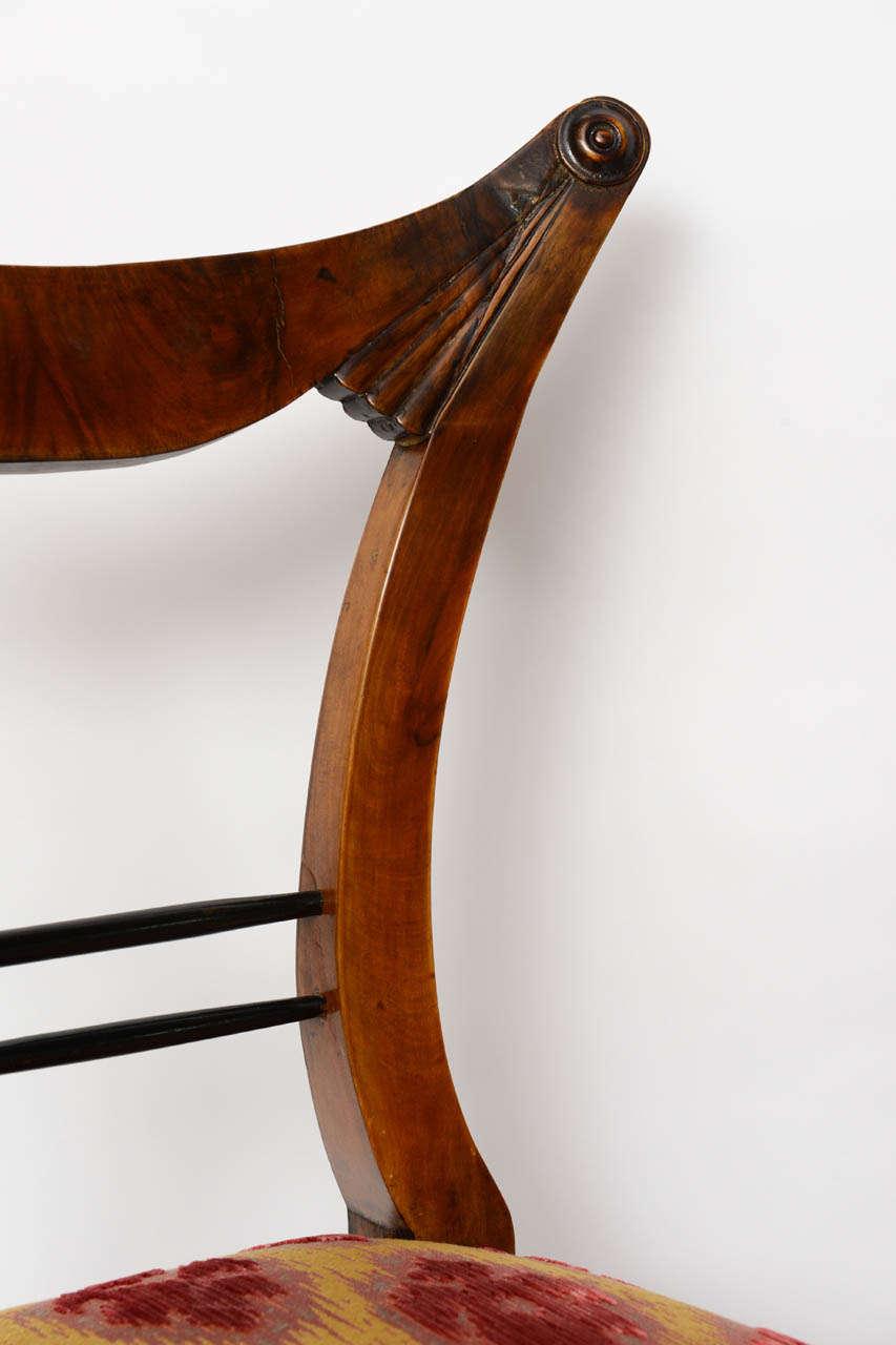 Set of Six Biedermeier Dining Chairs, Josef Danhauser, Vienna For Sale 4
