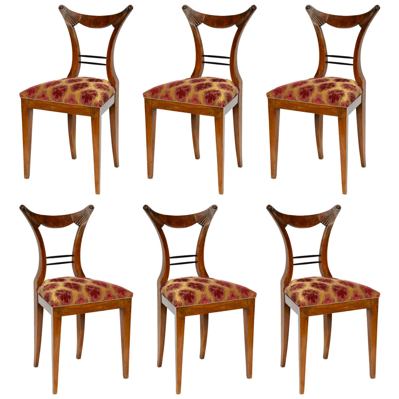 Set of Six Biedermeier Dining Chairs, Josef Danhauser, Vienna