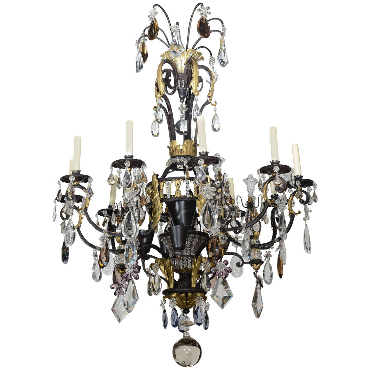trimmed lighting balls wl chandelier crystal and dp com w swarovski chandeliers dressed amazon iron wrought
