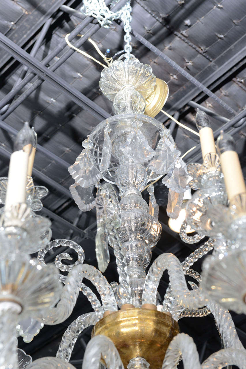 Monumental Venetian Glass Eighteen-Light Chandelier, 1920s In Excellent Condition For Sale In Miami, FL