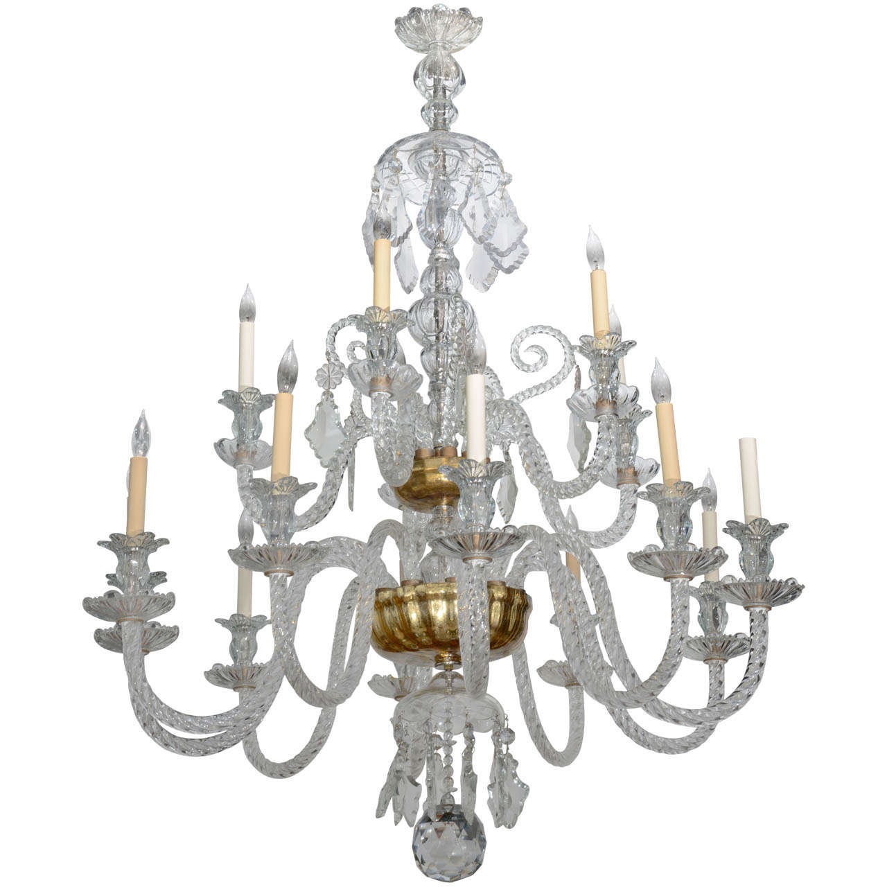 monumental venetian glass eighteen light chandelier 1920s. Black Bedroom Furniture Sets. Home Design Ideas