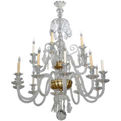 Monumental Venetian Glass Eighteen-Light Chandelier, 1920s