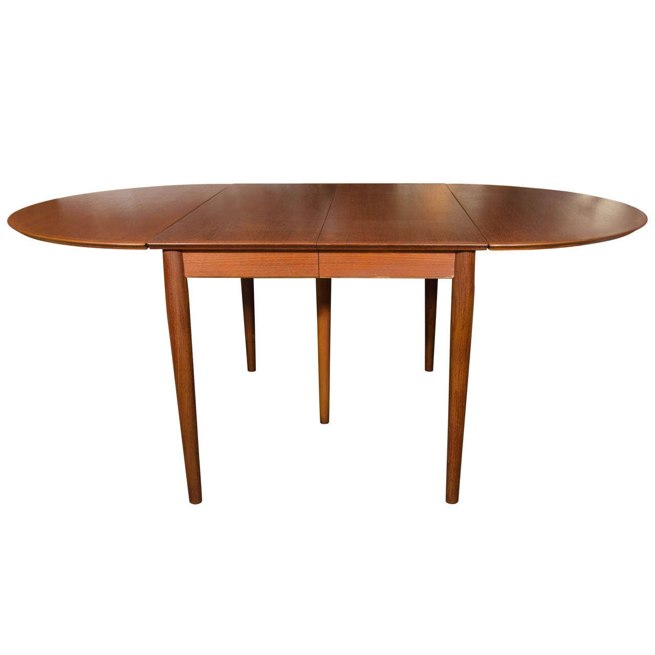 Danish modern teak drop leaf extension dining table for for Modern dining tables sale