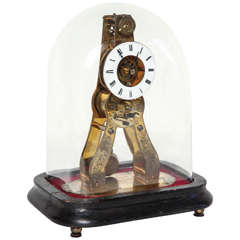 19th Century French Skeleton Clock