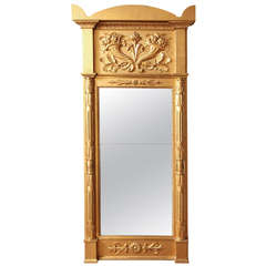 19th Century Swedish Gilded Pier Mirror