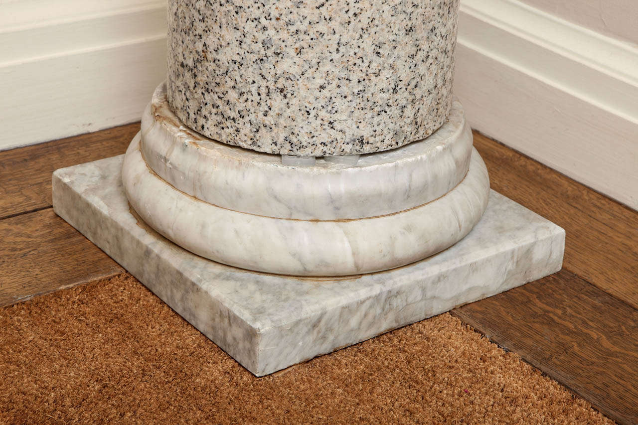 20th Century  Granite Column on Marble Base For Sale