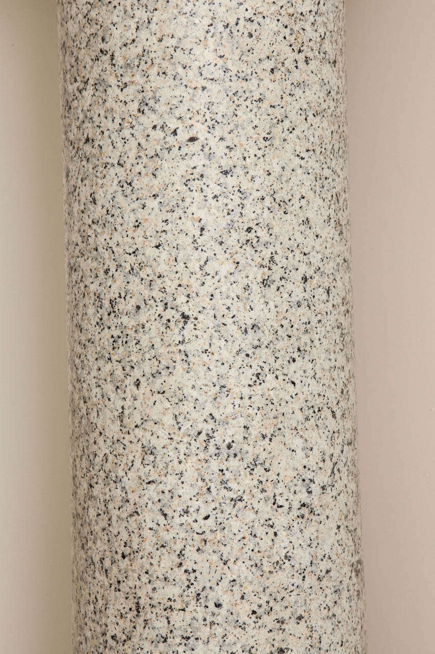 Granite Column on Marble Base For Sale 1