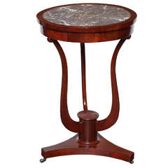 19th Century English, Mahogany and Marble Topped Table