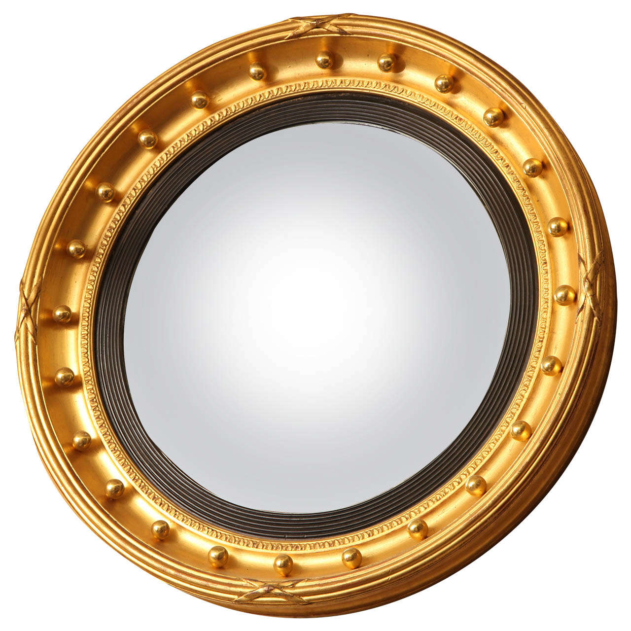 19th century english gilded convex mirror at 1stdibs for Convex mirror for home