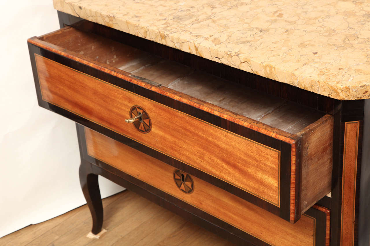 A French Cherrywood and Rosewood Crossbanded Commode  For Sale 2