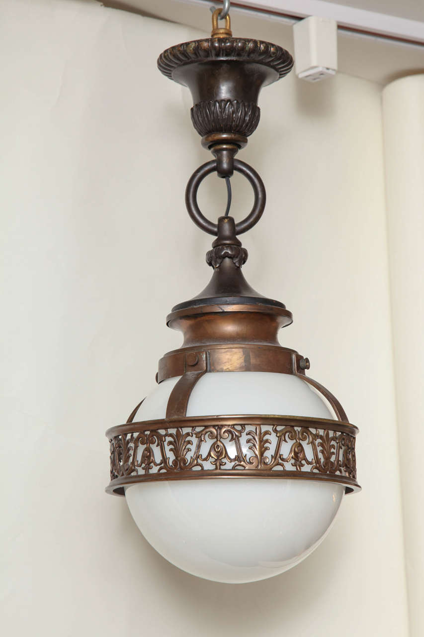1910 Caldwell Beaux Arts Bronze Chandelier 2