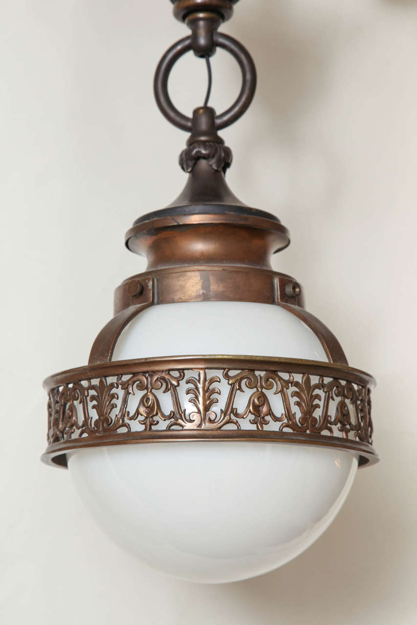1910 Caldwell Beaux Arts Bronze Chandelier 3