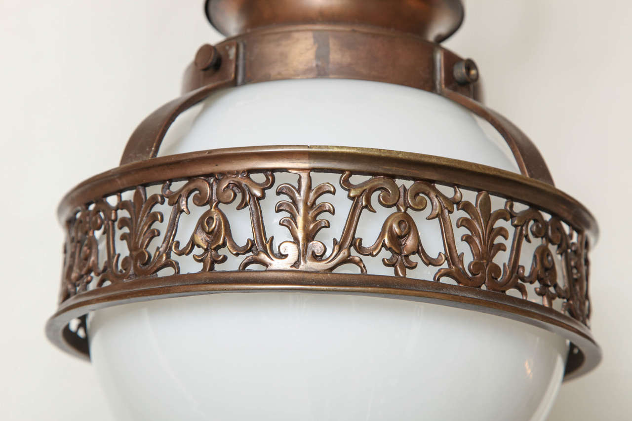 1910 Caldwell Beaux Arts Bronze Chandelier 4