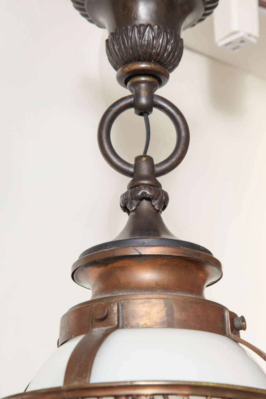 1910 Caldwell Beaux Arts Bronze Chandelier 5