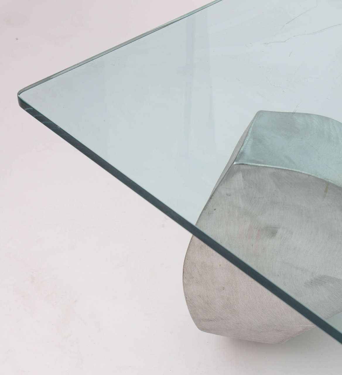Bill Barrett Fabricated Aluminum Sculpture Coffee Table For Sale 3