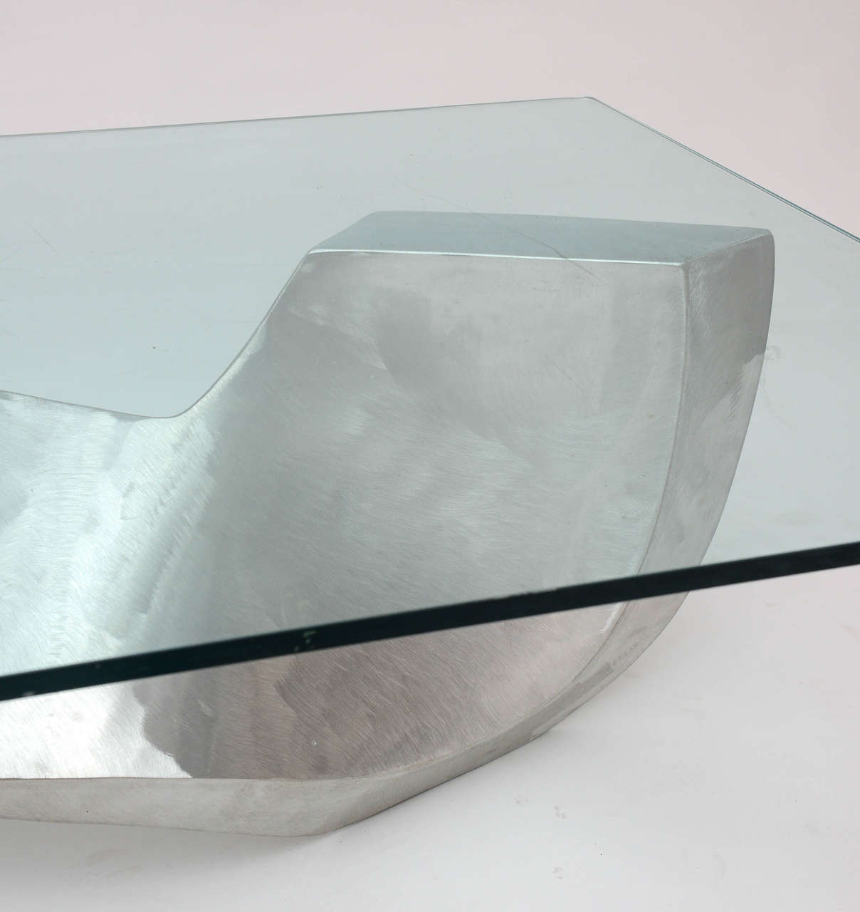 Bill Barrett Fabricated Aluminum Sculpture Coffee Table For Sale 4